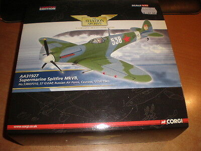 Corgi AA31927 Supermarine Spitfire MkVB, Russian Air Force MIB 1:72(ds32 cN0580)
