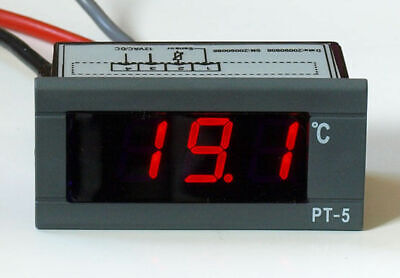 LED Thermometer digital bis +150°C 12V 24V Digitalthermometer Einbauthermometer
