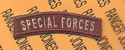 US Army Special Forces SF Desert Airborne tab patch #6