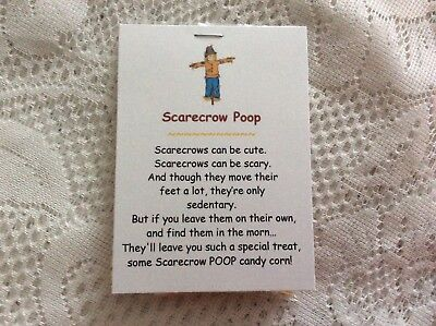 NEW Scarecrow Poop Fall Autumn Novelty Gag Gift Candy Corn Favor Thanksgiving