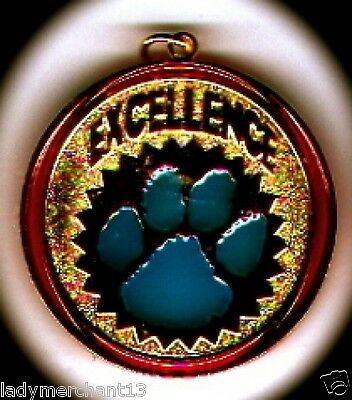 "Transparent Blue Paw ""EXCELLENCE"" Medallions Lot of 10/All New Line!  Sharp!"