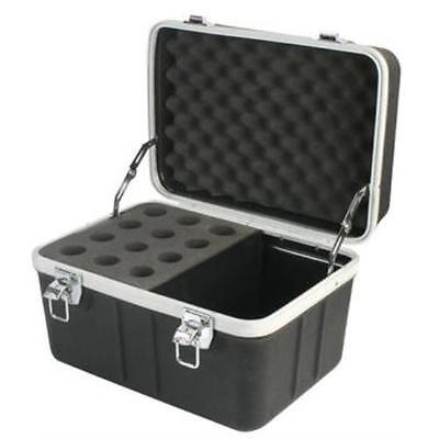 NEW 12 Microphone Carrying Case.Mic Instrument Storage Portable Flight Box.sm583