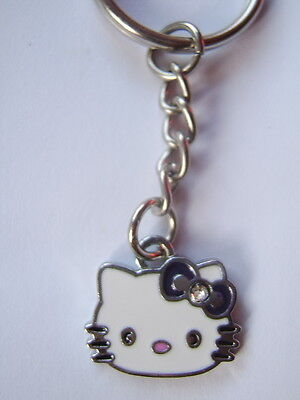 Hello kitty Enamel key ring .Dark Purple bow     FREEPOST  *UK SELLER*