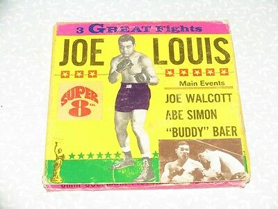JOE LOUIS // 3 GREAT FIGHTS _ Columbia Pictures Home Movie SUPER 8mm