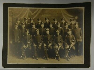 Vintage PHOTO of SWEDISH AMERICAN FRATERNAL GROUP I.O.S. in MILITARY UNIFORM