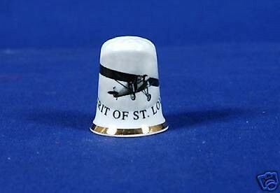 Spirit of St. Louis Bone China Thimble B/63