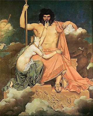 Jupiter and Thetis ,1811- Jean-Auguste Dominique Ingres  - Love & Romance Art