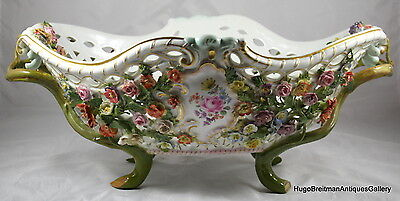 Meissen Reticulated Porcelain Footed Basket