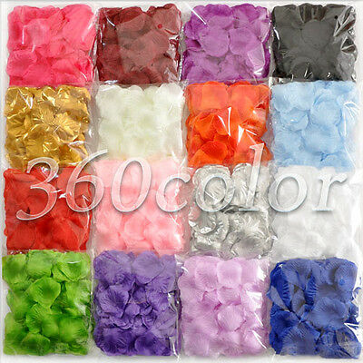 100pcs Silk Flower Rose Petals Wedding Party Banquet Favors confetti Decoration