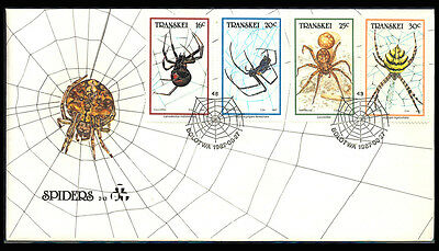 1987 Transkei SPEDER INSECT Cover S16