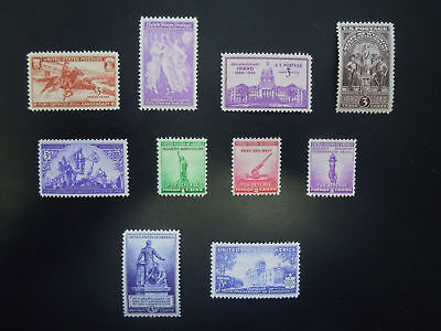 1940-1941 US Commemoratives Year Set Complete  #894-903 M
