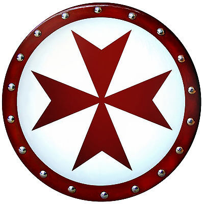TEMPLAR CROSS SHIELD --- sca/larp/medieval/armor/maltese/knight/crusades