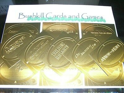 James Bond 50th Anniversary Series 2 - 11 Card Gold Plaque Embossed Insert Set