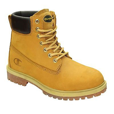 Mens Leather Boots Ladies Hiking Walking Casual Boys Shoes Ankle High Top Shoes