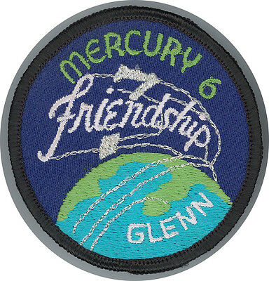 Ecusson NASA MERCURY 6 Program Patch John Glenn 75 mm