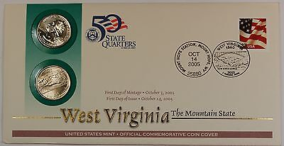 2005 West Virginia State Quarters,US Mint Issued Set, Featuring P & D Mint Marks