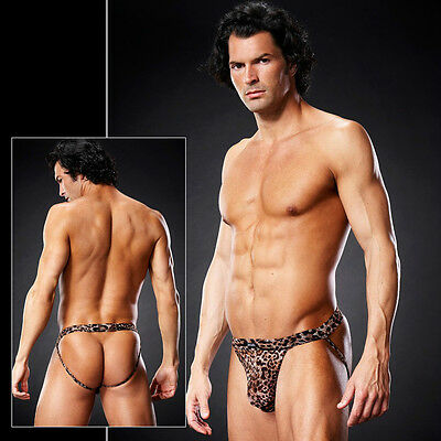 Pofrei Jock String Micro Mesh Transparent Design LEO in S M S/M Blue Line