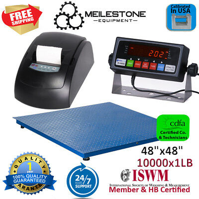 New 10000 lb/1lb 4x4 Floor Scale / Pallet Scale w/ Smart Indicator + Printer