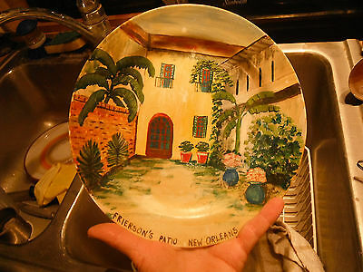 Homer Loughlin EGGSHELL NAUTILUS hand painted plate,New Orleans,Frierson's Patio