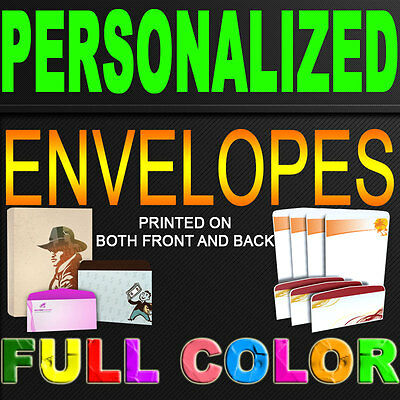 """250 Standard Envelope 4.125"""" x 9.5"""" CUSTOMIZED FULL COLOR WITH YOUR LOGO"""