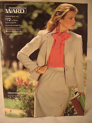 MONTGOMERY WARD SPRING & SUMMER 1982 82 vintage old Catalog womens clothing guns
