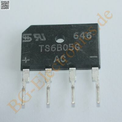 2 x TS6B05G-07 Single Phase 6.0 Amps. Glass Passivated Bridge Taiwan Se  2pcs
