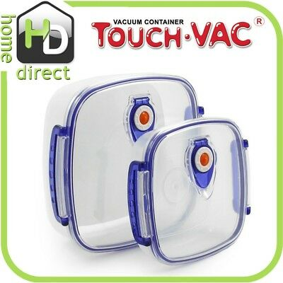 TouchVac Airtight Vacuum Sealed Kitchen Storage Container - Microwave Safe 1.5L