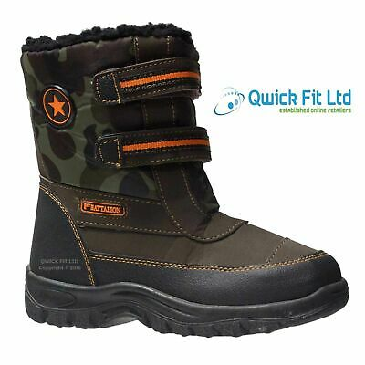 Boys New Thermal Snow Moon Mucker Boots Fur Warm Winter Wellingtons Wellies Shoe