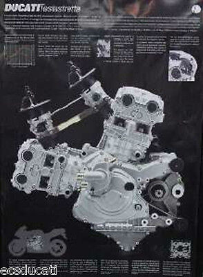 Ducati Factory 996R/Desmoquatro Motor double sided poster  Last new one left!