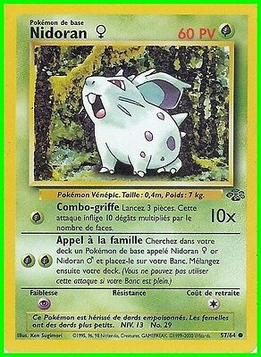 "Carte Pokemon "" NIDORAN ""  Série Jungle  PV 60 57/64 VF"