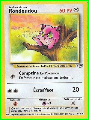 "Carte Pokemon "" RONDOUDOU ""  Série Jungle  PV 60 54/64   VF"