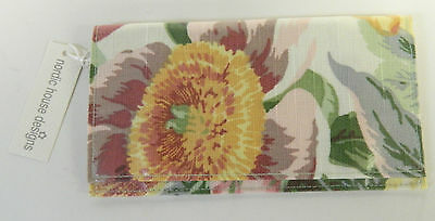 Nordic House Designs Nyc Checkbook Cover - Floral Design