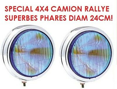 Promo! 2 Enormes Phares 24Cm Chrome Type Lightforce Hella Oscar! Xenon Possible!