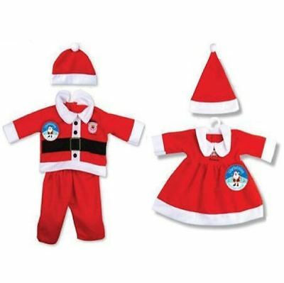 Toddler Baby Christmas Santa Xmas Outfit Fancy Dress Costume Girls Boys 3 Sizes