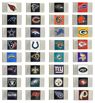 New NFL Officially Licensed 30 Teams Metal Money Clip Free Shipping