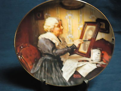 "8.5"" Knowles NORMAN ROCKWELL Collector's Plate ""GRANDMA'S LOVE"" 1988"