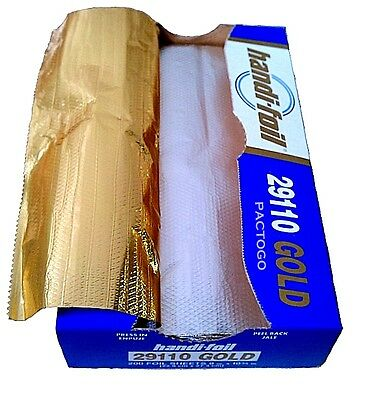 "Handi-Foil 9"" x 10.75"" GOLD Interfolded Aluminum Foil Food Pop-Up Sheets 200/PK"