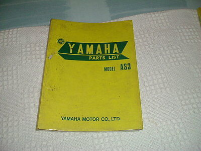 Yamaha As3  Factory Parts Book A4 Sized