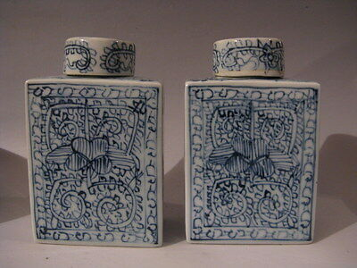 A pair peculiar Blue&White Porcelain Person vase free shipping