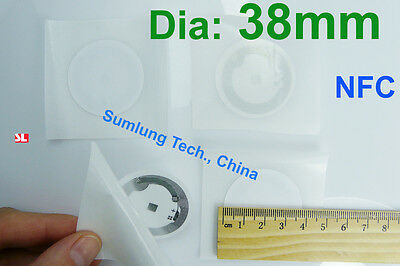 10× NFC Tag Sticker Mifare 1k for Sony HTC Samsung Nokia LG Acer Asus RFID Label