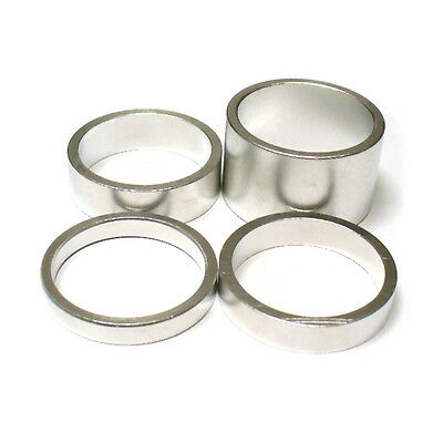 """gobike88 KREX silver alloy spacer, for 1"""" headset, 4 in 1 sets 20/10/7/5mm, 296"""