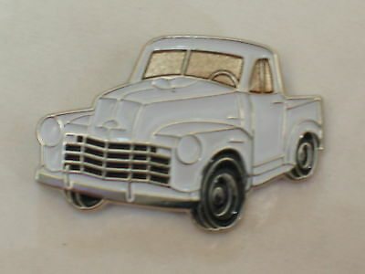 47-52 Chevy Truck PIN BADGE (white)