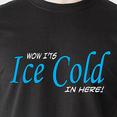 Wow It's Ice Cold In Here! boobs nipples tits humor vintage retro Funny T-Shirt