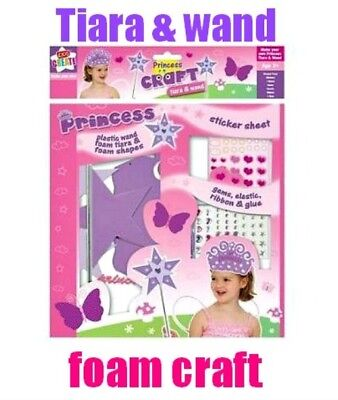 Tiara & Wand FOAM CRAFT Party dressing up Princess costume fancy dress