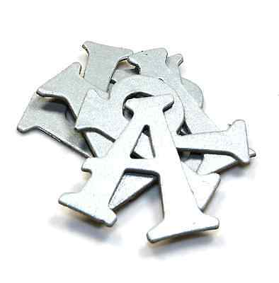 """Silver 1.5"""" Shimmer Chipboard Alphabet letters 61pcs Wedding Anniversary"""