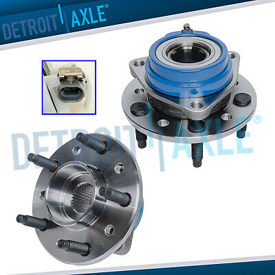 Both (2) New Front Wheel Hub and Bearing Assemblies for Chevy Pontiac w/ ABS