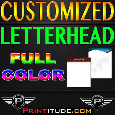 "500 LETTERHEAD Full Color 8.5"" x 11"" 100LB PAPER, 8.5X11 DOUBLE SIDED"