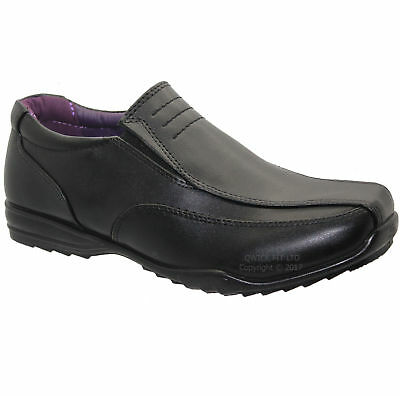 Boys Black Smart Party Wedding Prom Winter School Shoes Casual Trainers Boots