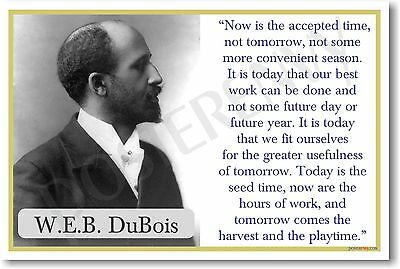 WEB Dubois - NEW African American Famous Author Classroom Motivational POSTER
