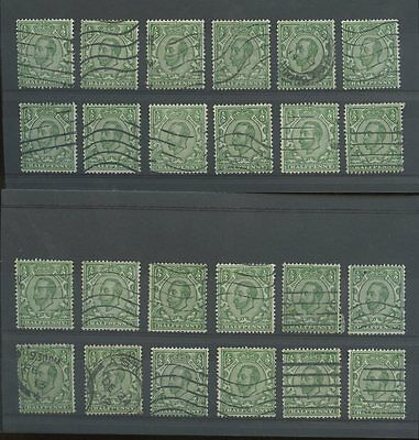 GB KG5 DOWNEY HEADS MULTIPLE CYPHER WMK SG346-348 GOOD USED 24 stamps cv £192 L1